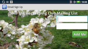 Chèn mẫu đăng ký email lên website