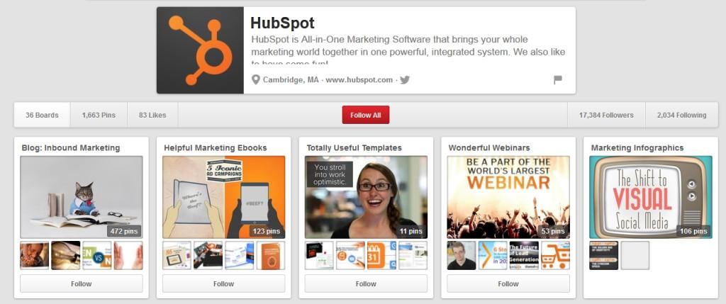 Đây là cách HubSpot thu hút sự chú ý của khách hàng tiềm năng trên Pinterest.