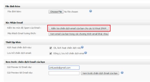 kiểm tra tư khóa trong email