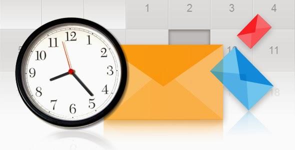 thời gian gửi email