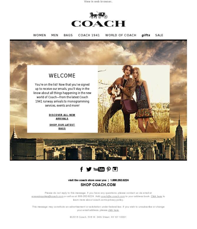 mẫu email welcome cho doanh nghiệp